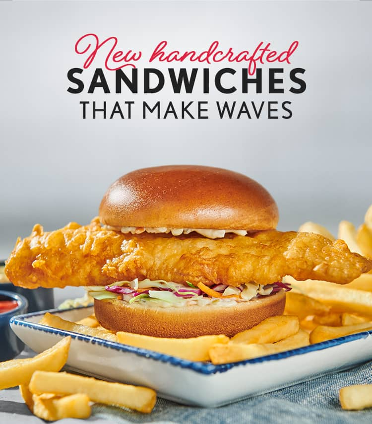NEW HANDCRAFTED SANDWICHES THAT MAKE WAVES.
