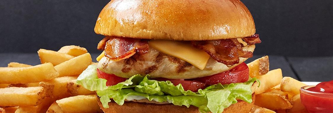 Bacon Cheddar Chicken Club Sandwich