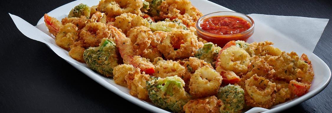Crispy Calamari and Vegetables