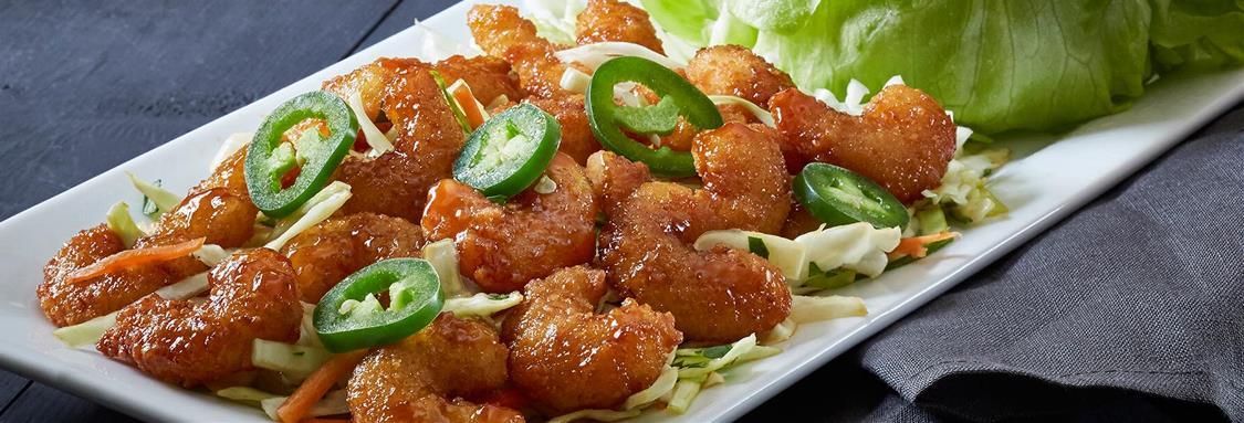 Crispy Shrimp Lettuce Wraps