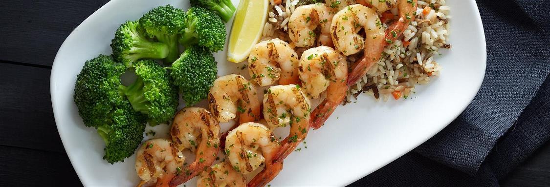 Garlic-Grilled Shrimp