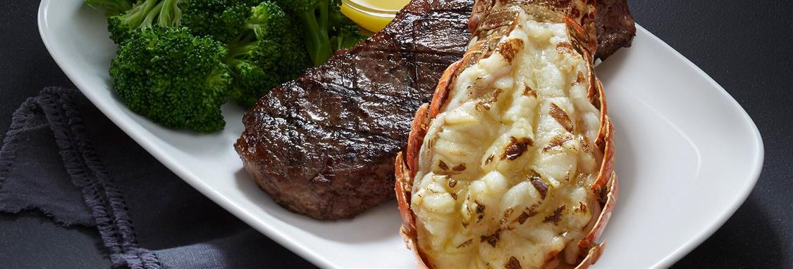 New York Strip and Rock Lobster Tail