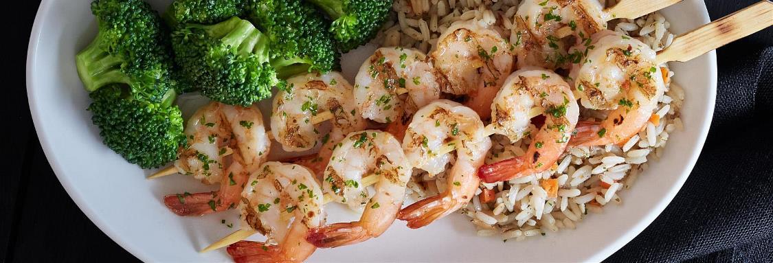 Fire-Grilled Shrimp Skewers